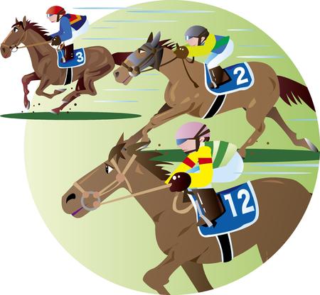Horse racing 05 Illustration