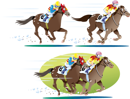 Horse racing 01 일러스트