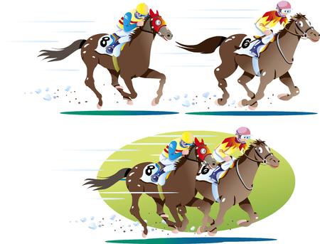 Horse racing 01 Illustration