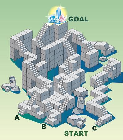 Maze puzzle restruct