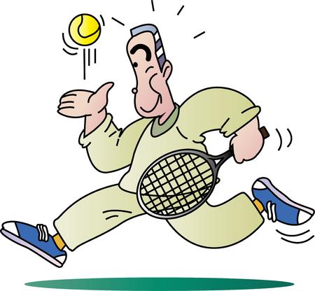 Elderly hobby tennis