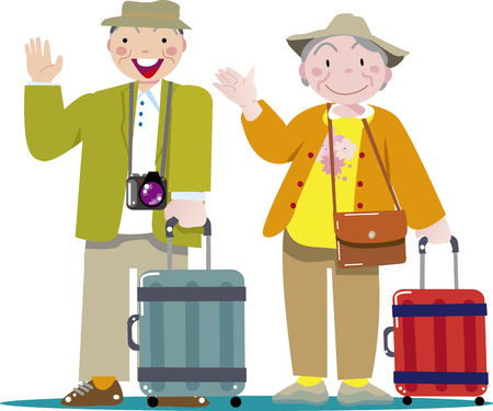 Retirement travel Stock Illustratie
