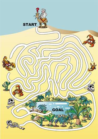 Maze Oasis Çizim