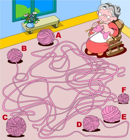 Maze knitting