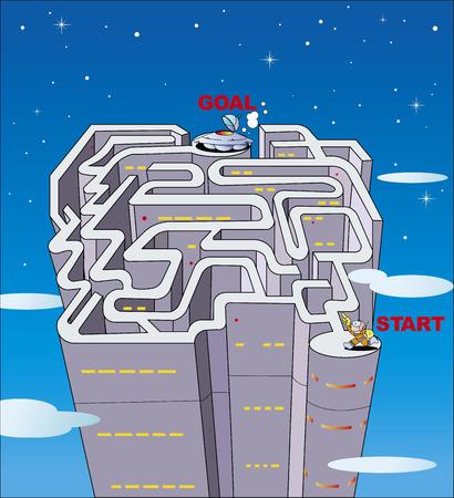 Maze UFO will take off!
