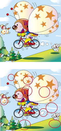Find the mistake _ Bicycle flying butterfly