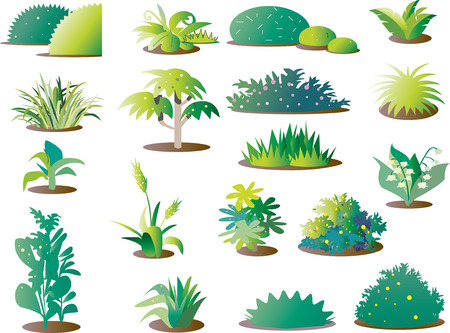 Grass parts _ background material Illustration