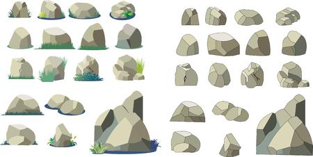 Illustration parts of rock and stone Illustration