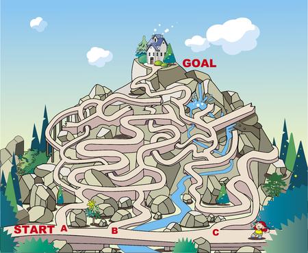 Revenons au labyrinthe, maison de montagne !