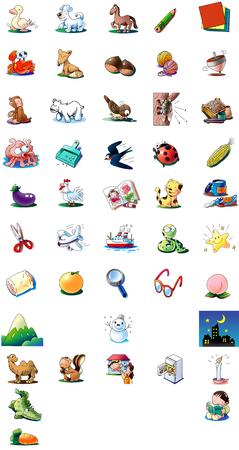 Japanese 50 sound illustration Stock Photo