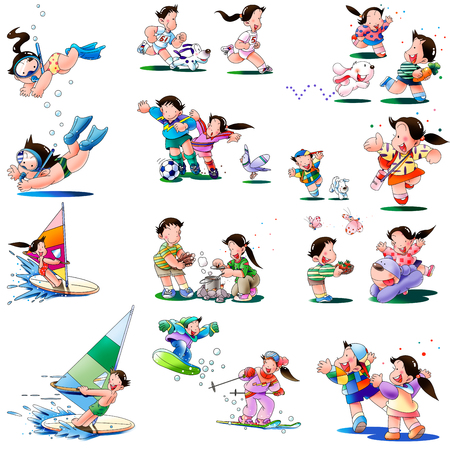 Childrens play and sports Stock Photo