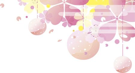 Cherry blossom festival background illustration Illustration