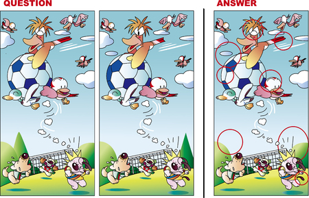 Find a mistake quiz, animal football