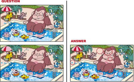 Looking for mistakes Illustration, pool Illustration
