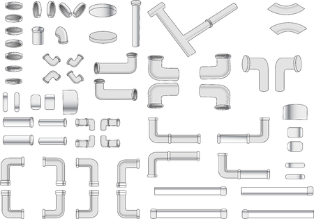 Iron pipe and various piping