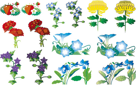 Flower cut collection 03 Illustration