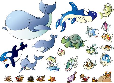 Sea creature illustration collection _ 02 Ilustração