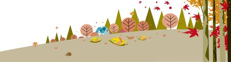 Autumn leaves and foliage background  イラスト・ベクター素材