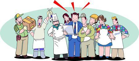 Accounting for a sole proprietor Vector Illustratie