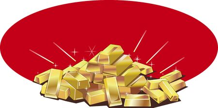 Vector illustration image of gold bullion 스톡 콘텐츠 - 150346743