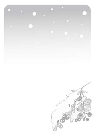 Southern heavenly fruit of postcards in mourning of winter plants Illustration