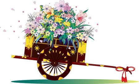 Traditional Japanese flower carts