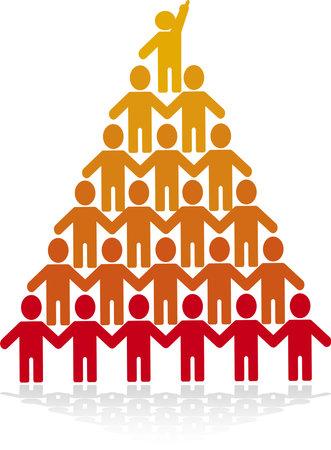 The human pyramid of upward mobility