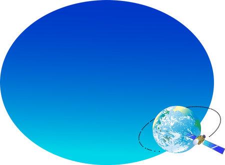 Clip art of communication satellite broadcasting network