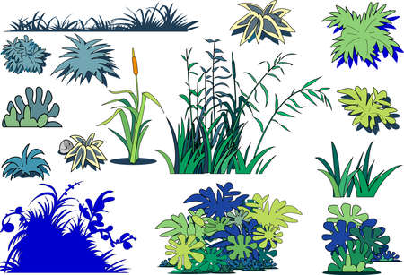 Clip art of weeds and grasses.