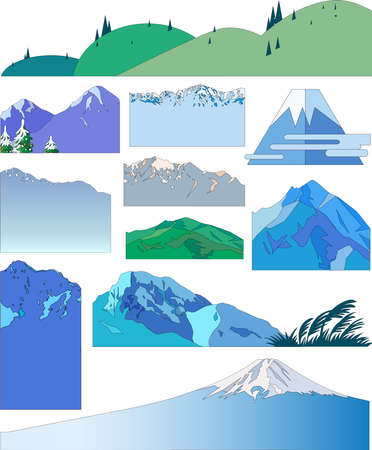 Mountain Illustrations 02 스톡 콘텐츠