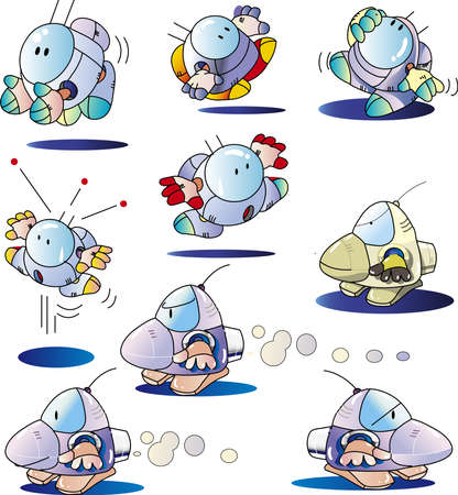 Cute Robot in 9 Poses_2021
