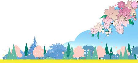 Cherry Blossom Cityscape
