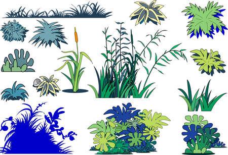 Clip art of weeds and grasses Ilustração