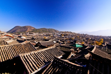 Landscape in Lijiang town for sightseeing trip photo