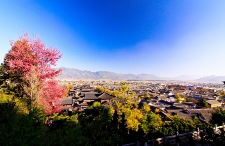 Famous view point in Lijiang old town of China Stock Photo - 21824505