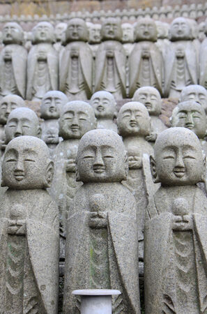 Monk statues in Kamakura of Japan photo