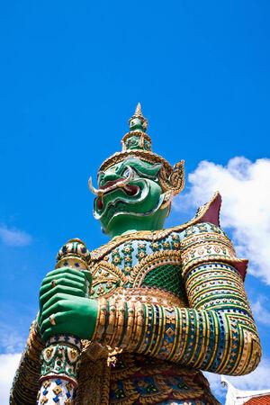 Half length of Measure giant at Arun temple of Bangkok, Thailand photo
