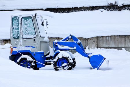 Snow loader in winter season