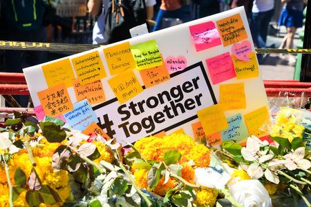 international crisis: Stronger together - powerful for bangkok, crimical bomb incident