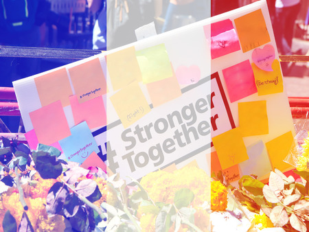 stronger: Stronger together - powerful for paris, crimical incident like bangkok Stock Photo