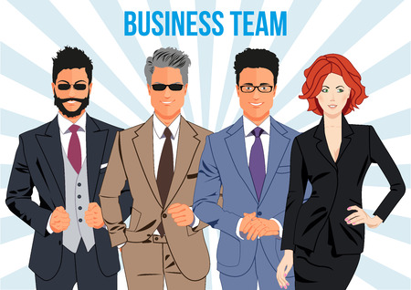 teamwork together: Business team design concept - team of business professionals working together and helping each other in times of prosperity or crisis. Together they are able to achieve more ambitious goals