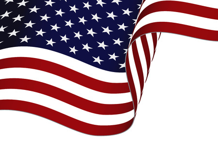 waving usa flag bottom half isolated on white background royalty