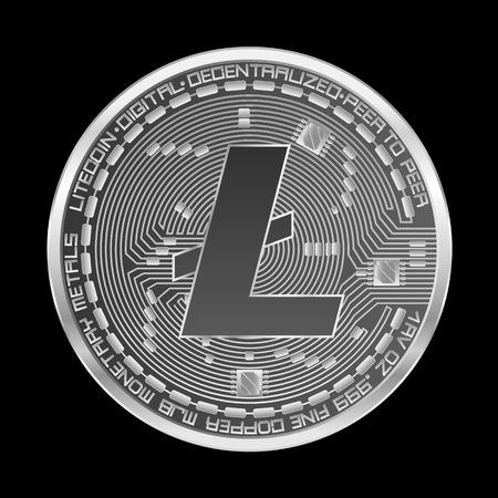 Silver coin icon. Vector Illustration