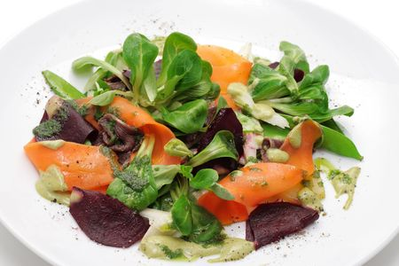 crusted: Vegetables, roe meals, greens. Stock Photo