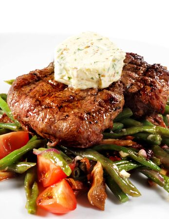 Beef Steak with Butter and Vegetable Julienne