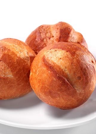 Freshly Baked Bread. Isolated on White Background Stock Photo - 4383122