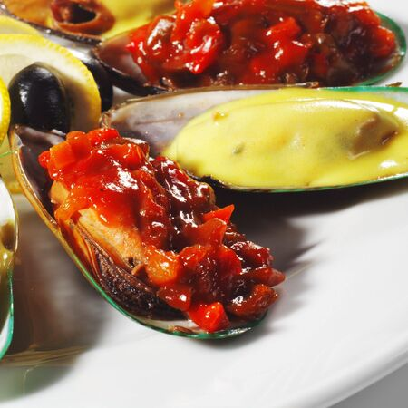 Appetizer - Mussels with Vegetable and Lemon Sauce photo