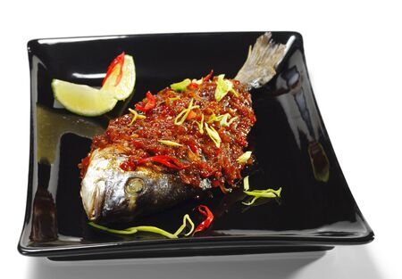 Thai Dishes - Grilled Dorado with Ginger Sauce photo