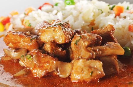stewed: Stewed Meat and Rice with Vegetables