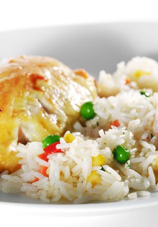 Salmon Fillet and Rice with Vegetables photo